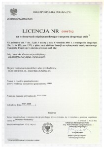EuroLanser LICENCJA